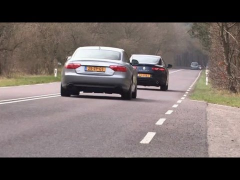 Fight! Via http://www.abhd.nl/video/duo-test-audi-a5-32-quattro-versus-renault-laguna-coupe-35-v6/