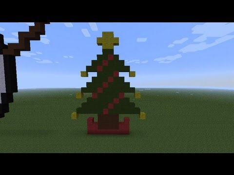 Christmas Pixel Art Minecraft Christmas Tree Pixel Art