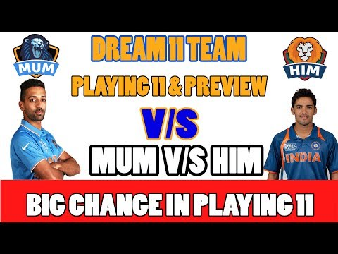 MUM VS HIM Dream11 VIJAY HAZARE TROPHY ROUND 8 MATCH MUMBAI VS himachal pradesh vs MUMBAI CRIDUEL