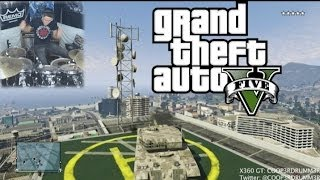 GTAV Soundtrack & Trailer Song - Drum Cover - 5 Star Escape Gameplay Montage - Grand Theft Auto 5