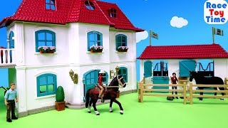 New Schleich Horse Club House and Stable Playset
