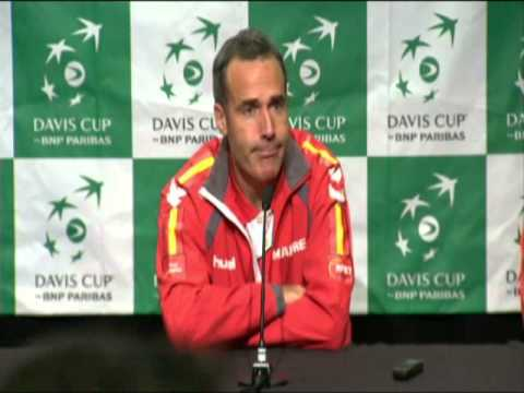 Canada vs Spain - Alex Corretja & Marcel Granollers Interview Davis Cup