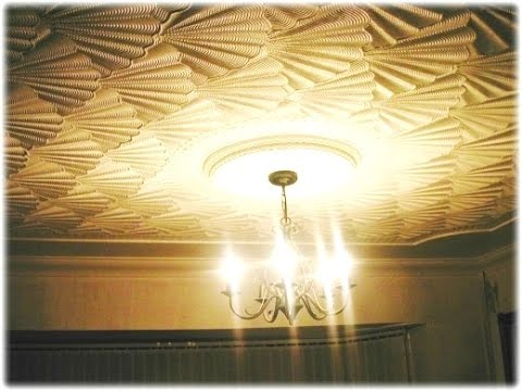 How to create: Ceiling Comb Drywall Artex Mud Texturing Finish: Amazing 3D Effect OysterShell video