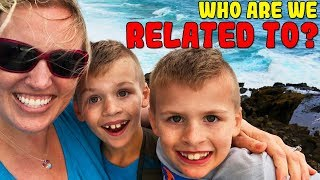 You Won't Believe Who We are Related to!! Surprise Relative Race Unboxing!