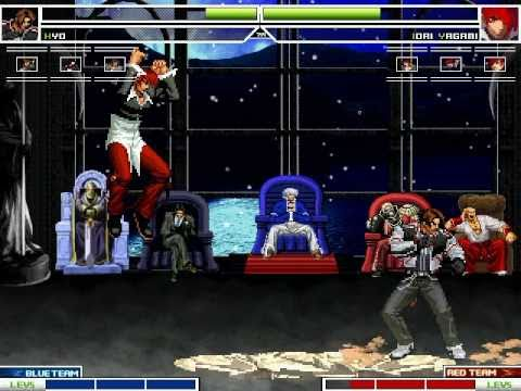 KOF MUGEN Kyo Team Vs Iori Yagami Team