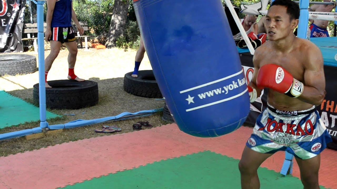 Thai Training Camps Bag Training at Muay Thai