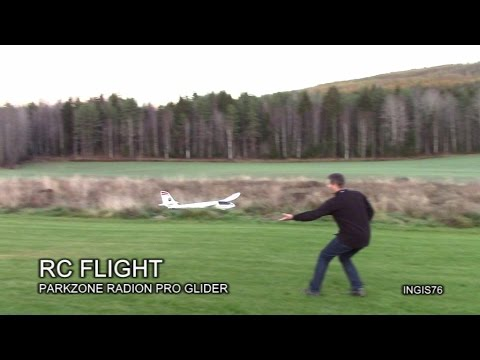 RC FLIGHT PARKZONE RADIAN PRO GLIDER AFTERNOON FLYING FUN