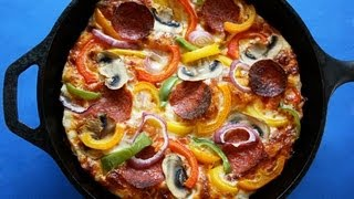 Easy Pan Pizza - Foolproof Crust - Healthier, Low-Fat Pan Pizza!