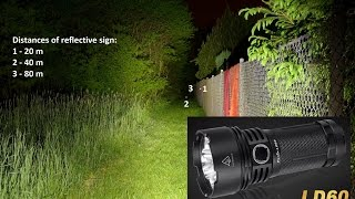 Fenix Flashlights test (1/2): beamshots
