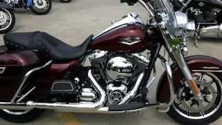 2014 Road King Harley-Davidson FLHR Mysterious Red Sunglo