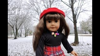 1st Snow! Getting the Dolls Dressed for Winter American Girl