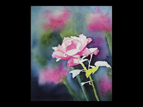 Painting Demonstration Pink Rose by Lori Andrews Video