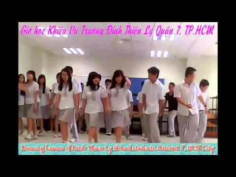Cha Cha (Classical Dance) Dancing lessons of Dinh Thien Ly School students, District 7, HCMC