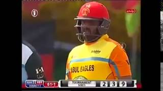 5 sixes in one over (Mohammad Shahzad)《Shpageeza CL 2016 final》Afghanistan Cricket Team