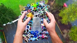 Can $1000 of Fidget Spinners Protect Galaxy S8 from 100 FT Drop Test?