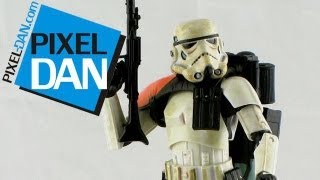 "Hasbro Star Wars Black Series 6"" Scale Sandtrooper Figure Video Review"