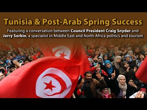 The World Affairs Council of Philadelphia Presents Tunisia & Post-Arab Spring Success