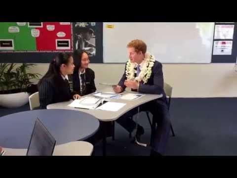 Prince Harry visits Southern Cross Campus school, Auckland #RoyalVisitNZ