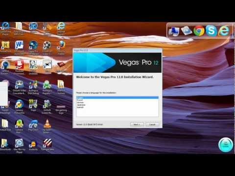 How to Install Sony Vegas Pro 12 - 64Bit With Patch Voice Tutorial-First on Youtube