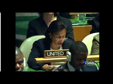 Ambassador Susan Rice's reaction to Palestine's upgraded status at the UN