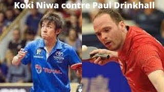 Koki Niwa contre Paul Drinkhall