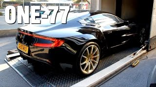 Aston Martin One77 Delivery & Cold Start Up!