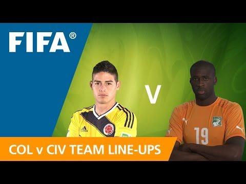 Colombia v. Côte d'Ivoire - Teams Announcement