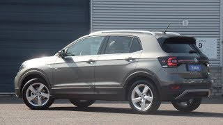 Volkswagen NEW T-cross 2019 Style Limestone grey 17 inch Chesterfield Walk around & detail inside
