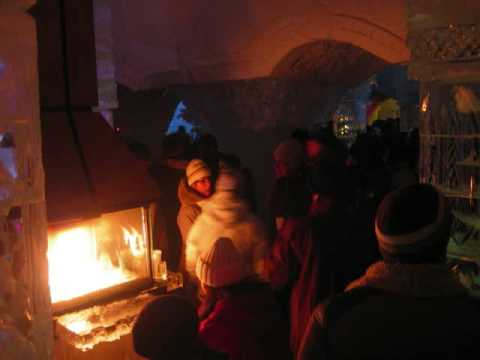 THE BEST WORLD NIGHT CLUB  BAR - ICE HOTEL - QUEBEC CITY -  CANADA - HOTEL DE GLACE- 2009