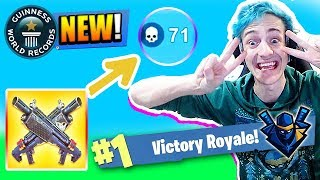 NINJA MAKES NEW RECORD WITH THE NEW HEAVY SHOTGUN! Fortnite FUNNY & Best Moments! Battle Royale