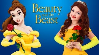 Disney Princess Dresses & Kids Makeup Beauty and the Beast, Belle,Super Elsa & Magic Cosplay