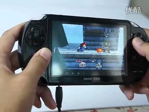 Demo: Droid X360 Android PSP Game Tablet 5 Inch