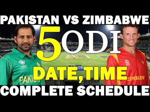 PAKISTAN VS ZIMBABWE COMPLETE SCHEDULE | PAK TOUR TO ZIM 2018 | PAK CRICKET TEAM NEXT SERIES thumbnail