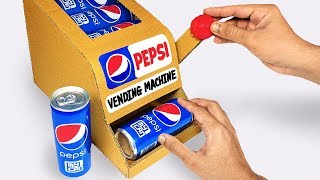 How to make a PEPSI Vending Machine Out of Cardboard EASY DIY AT HOME / DAH