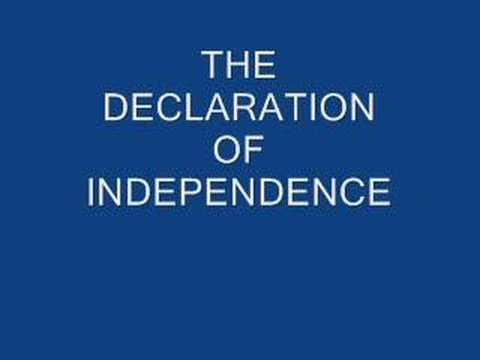 The Declaration of Independence - Complete Text Video