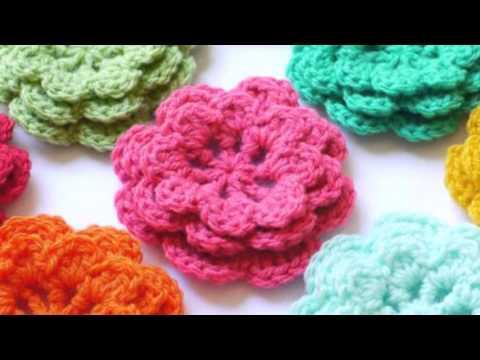 Flores de ganchillo 1 youtube - Como hacer flores de ganchillo ...