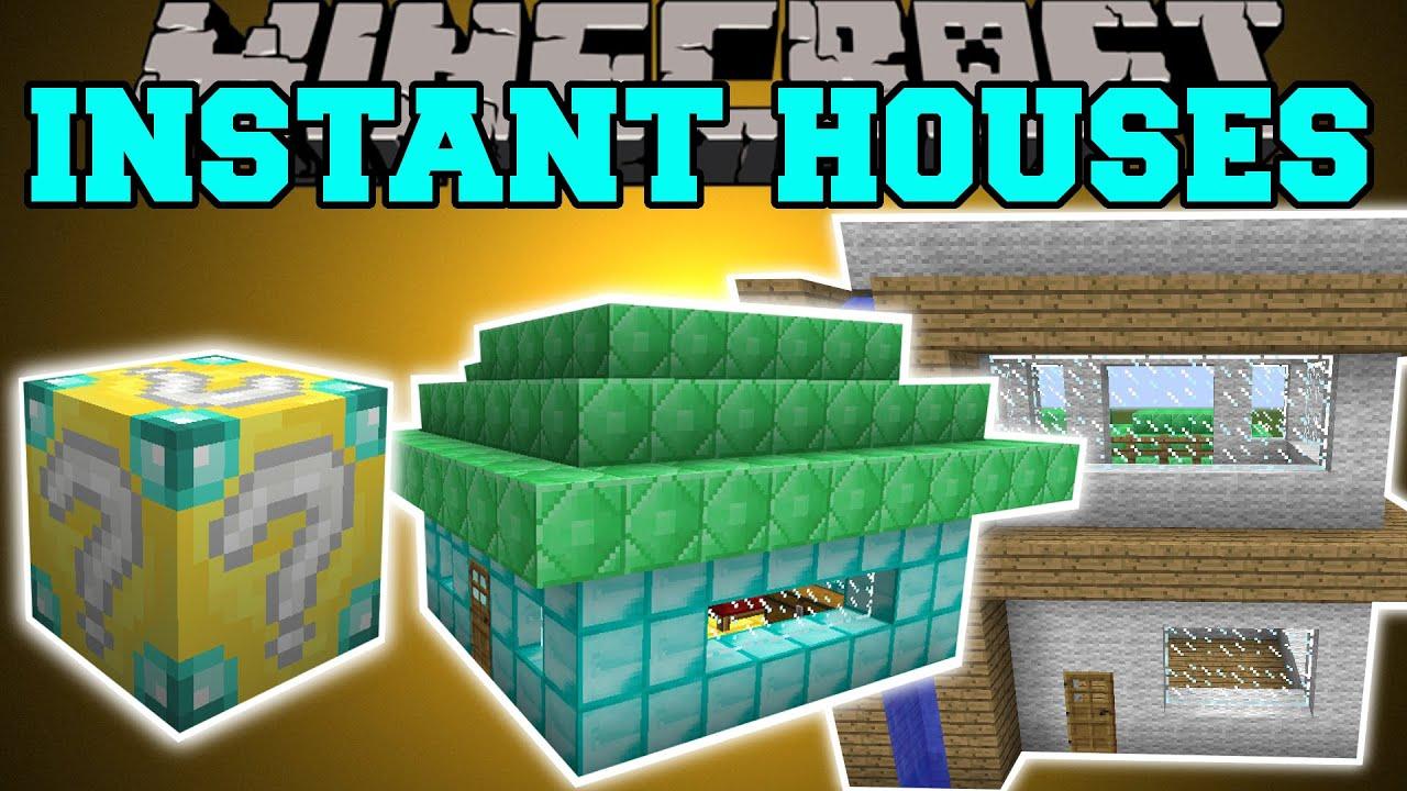Minecraft Instant House Mod