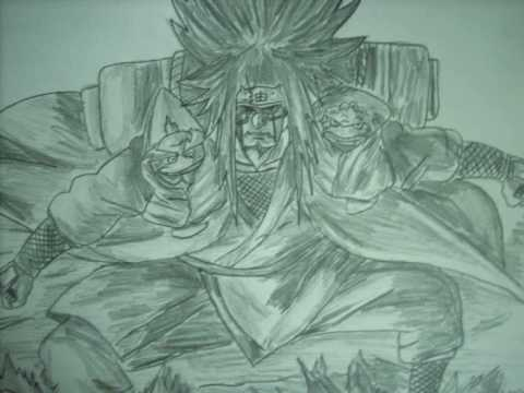 Jiraiya Sage Mode Drawing How to Draw Jiraiya Sage Mode