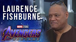 Laurence Fishburne on growing up reading Marvel Comics at the Avengers: Endgame Premiere