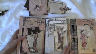Graphic 45 A Ladies Diary year book journal / mini album  - tutorial