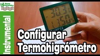 Cómo configurar la fecha y hora del termohigrometro