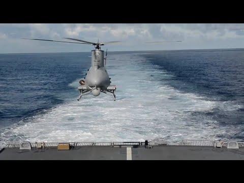 U.S. Navy MQ-8B Fire Scout Flight Operations aboard USS Fort Worth (LCS 3)