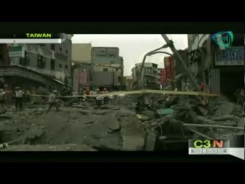 IMPRESIONANTES imágenes de una explosión de gas en Taiwan