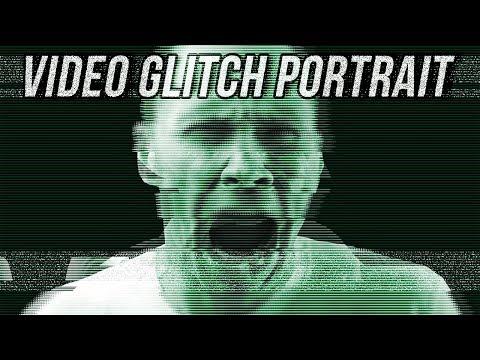Photoshop Tutorial: How to Create a CRT Monochrome, Video Glitch Portrait