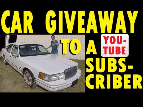 Giving Away My Lincoln To A YouTube Subscriber