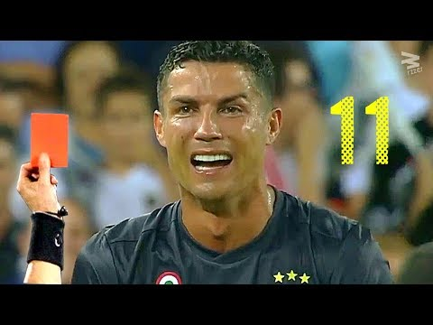 Cristiano Ronaldo: All 11 RED CARDS In Career