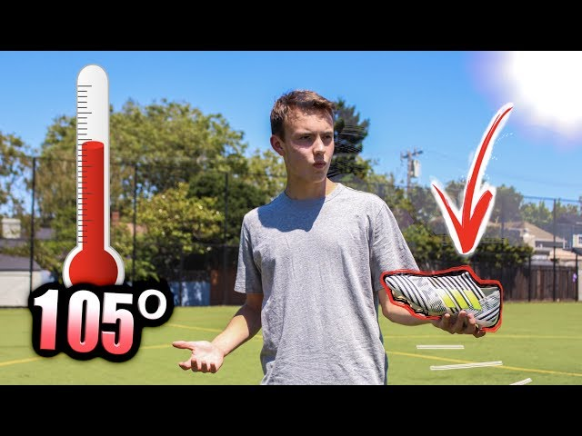 NOOO MY BOOTS MELTED!! - Football in 105 DEGREE WEATHER! INSANE HEAT CHALLENGE
