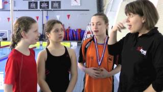 Interviews with young Deaf swimmers (BSL).