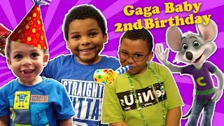 GAGA'S BABY 2nd BIRTHDAY! Toys R Us & Chuck E Cheese Celebration