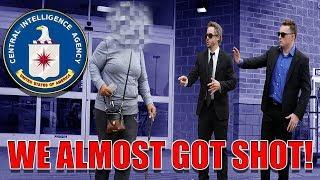 CIA PRANK GONE WRONG! *HELD AT GUNPOINT*